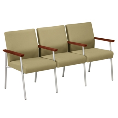 Uptown Three-Seater with Center Arms in Premium Upholstery