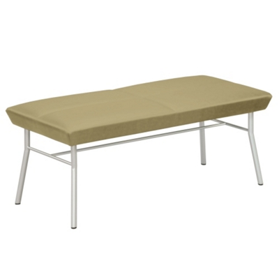 Uptown Two-Seat Bench in Premium Upholstery