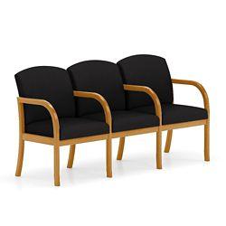 Three Seat Fabric Sofa with Center Arm
