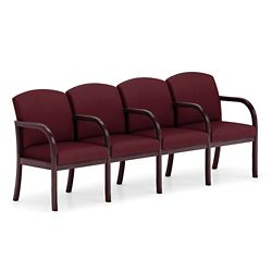 Four Seat Fabric Sofa with Center Arms