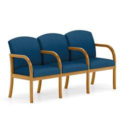 Three Seat Vinyl Sofa with Center Arm