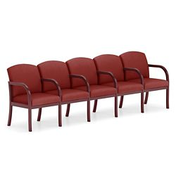 Five Seat Vinyl Sofa with Center Arms
