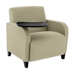 500lb. Capacity Oversized Fabric Guest Chair with Tablet Arm