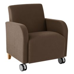 Vinyl Guest Chair with Casters