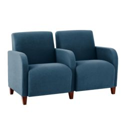 Vinyl Two Seat Sofa with Center Arm