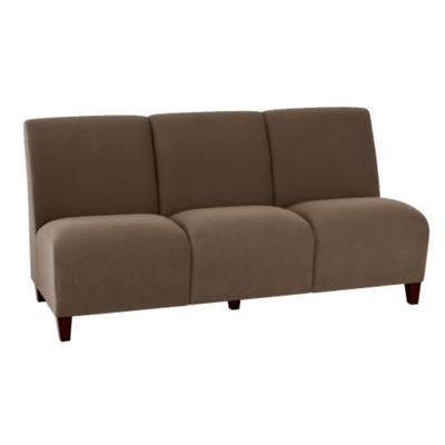 Vinyl Armless Three Seat Sofa