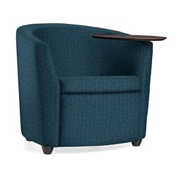 Fabric Round Tablet Arm Chair