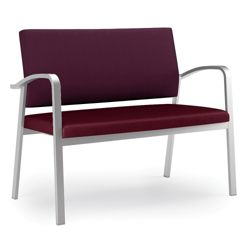 Designer Loveseat with Antimicrobial Vinyl Seat