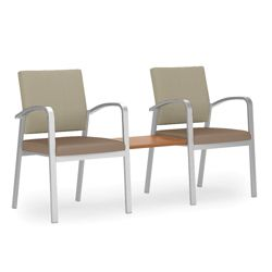 Two Guest Chairs with Center Table Set in Premium Upholstery