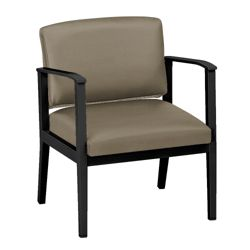 Mason Street Oversized Polyurethane Guest Chair with Arms