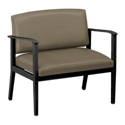 Mason Street Polyurethane Bariatric Guest Chair with Arms