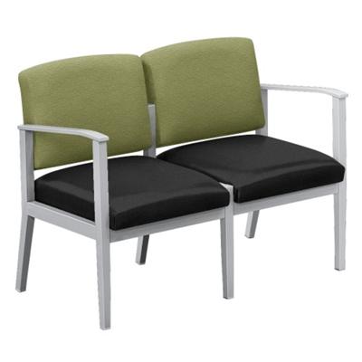 Mason Street Fabric and Polyurethane Two Seater