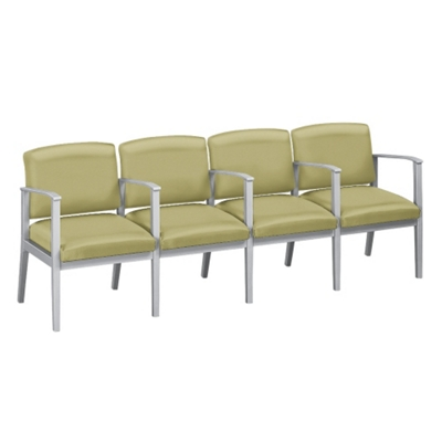 Mason Street Polyurethane Four Seater with Center Arms