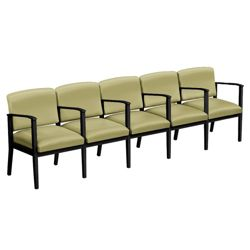 Mason Street Vinyl Five Seater with Center Arms