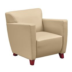 Edge Collection Polyurethane Arm Chair with Extra Thick Seat