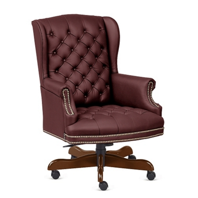 Monroe Leather Wing Back Executive Chair
