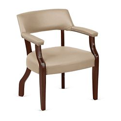 Monroe Faux Leather Captain's Guest Chair