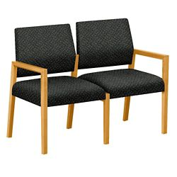 "Fabric Two Seat Sofa - 43.5""W x 23.5""D"