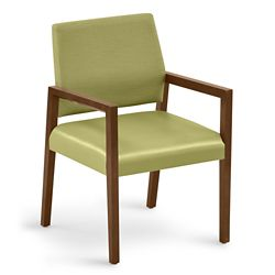 "Polyurethane or Fabric/Poly Combination Guest Chair - 22.5""W x 23.5""D"