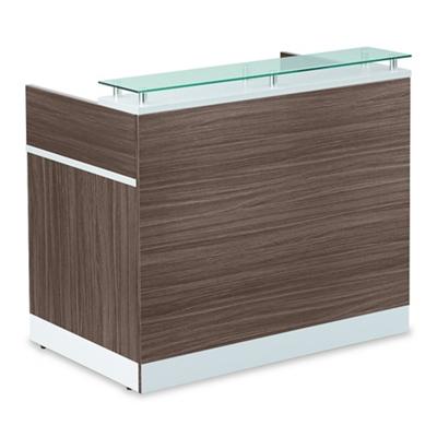 "Esquire Glass Top Reception Desk - 48""W x 30""D"
