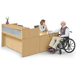 "Reception L Desk - 72""W"