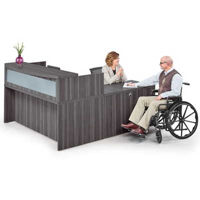 """Reception L Desk - 72""""W"""
