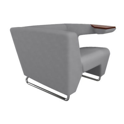 Left Tablet Arm Fabric Lounge Chair