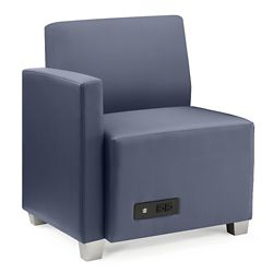 Compass Lounge Chair with Right Arm