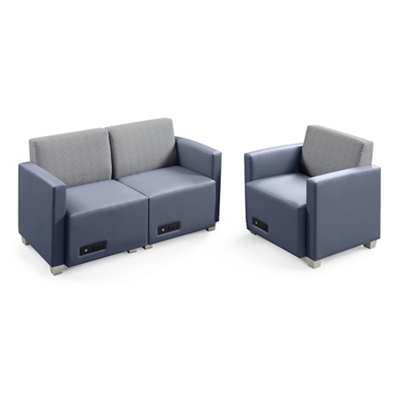 Compass Loveseat and Armchair