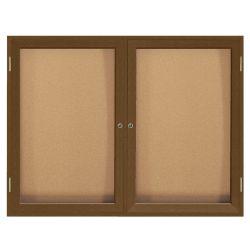 "Wood Frame Corkboard - 48"" x 36"""