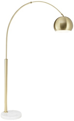 Fl-Basque Floor Arc Lamp-Gold