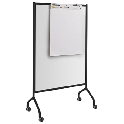 "Mobile Double-Sided Magnetic Whiteboard - 42""W x 72""H"
