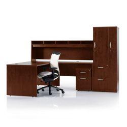 L-Desk with Storage Set
