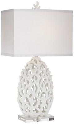 Tl-Kie White Resin Coral Lamp