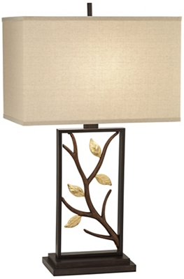 Tl-Metal Lamp W/Branch And Lea