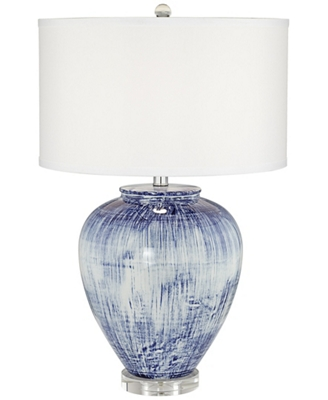 Tl-Big Blue Ceramic Vase Lamp
