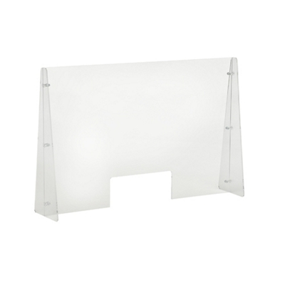 "Protective Acrylic Sneeze Guard with Slot - 36""W x 24""H"