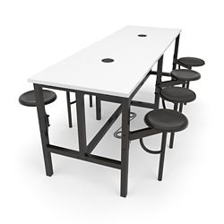"Standing Height Table with Eight Swivel Seats - 96""W"
