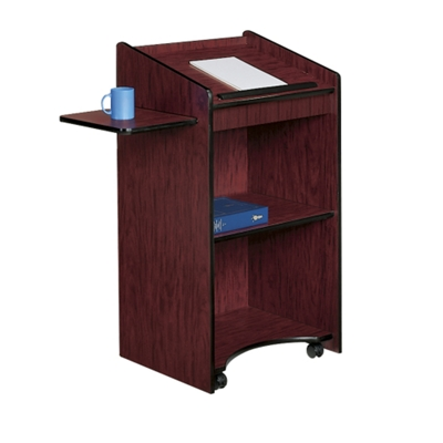 Mobile Lectern with Shelf