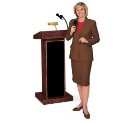Lectern with Amplifier