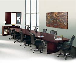 Transitional 12' Conference Table with Ten Chairs