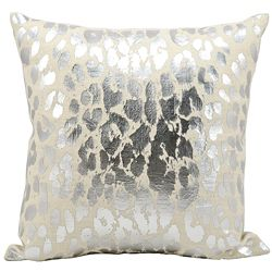 "kathy ireland by Nourison Metallic Leopard Print Pillow - 18""W x 18""H"