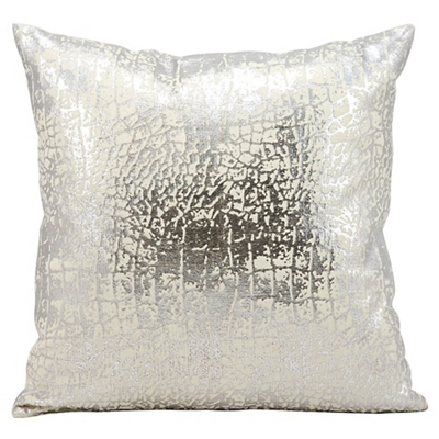 "kathy ireland by Nourison Metallic Snake Skin Accent Pillow - 18""W x 18""H"