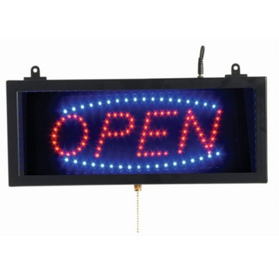"""Small LED Open Sign - 16""""W x 7""""H"""