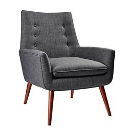 Addison Wood Leg Guest Chair in Fabric