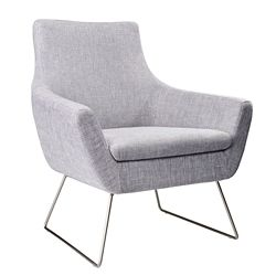 Kendrick Steel Leg Guest Chair in Fabric