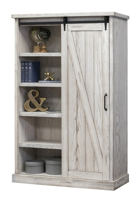 "Bookcase with Sliding Door - 72""H"