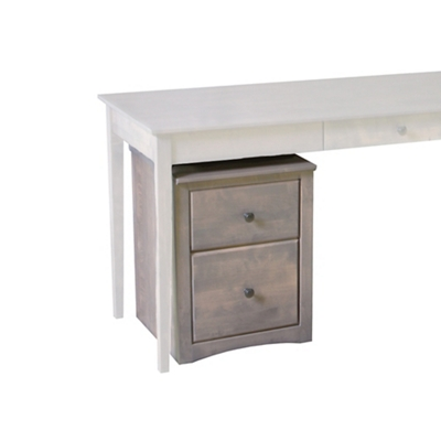 """Solid Wood Mobile Two Drawer File - 18""""W"""