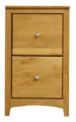 """Solid Wood Two Drawer File - 18""""W"""