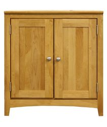 """Solid Wood Two Drawer Storage Cabinet - 28.5""""W"""